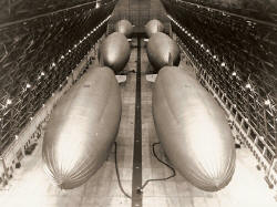 Inside one of the blimp hangers - Marine Corps Air Station Tustin- Lighter-than-Air Base