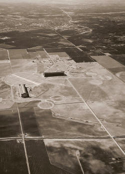 Aerial view - Marine Corps Air Station - Lighter-than-Air Base